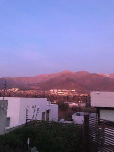 Sonnenuntergang spiegelt sich an den Anden